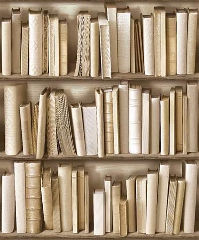 Bookshelf Bookcase Ivory Cream Brown Wallpapers