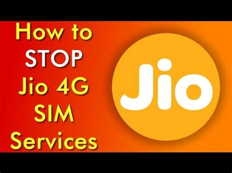 how to stop jio 4g service how to deactivate reliance jio sim card number