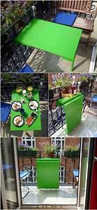 Table De Balcon Rabattable : fabriquer une armoire murale et table rabattable balcon diy vert n on table de balcon et ~ Teatrodelosmanantiales.com Idées de Décoration