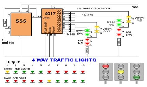 Way Traffic Lights Circuit Led Light