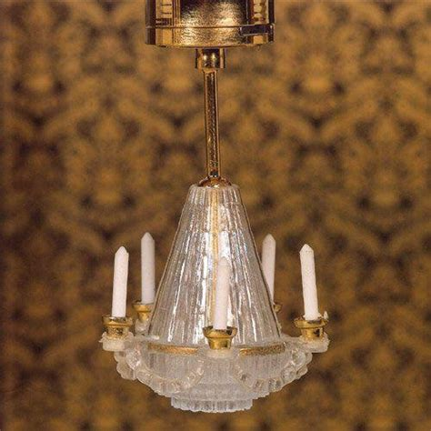 Battery Chandelier by The Dolls House Emporium Battery Powered Chandelier Light