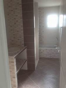 faience salle de bain marron et beige farqna With faience beige salle de bain