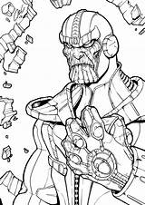 Thanos Coloring Infinity Pages Printable Gauntlet Marvel Line Avengers Drawing Comic Cute Boys Lego War Deviantart Superhero Chibi Books Drawings sketch template
