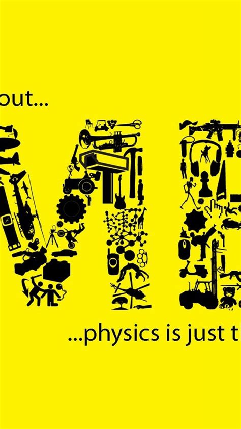 physics science text typography yellow wallpaper
