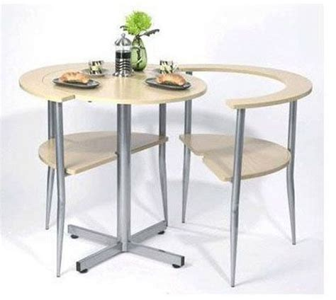 round breakfast table in brown set simple to assembly for