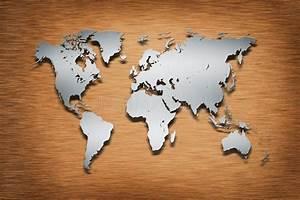 Carte Du Monde Bois : carte du monde en m tal sur le bois illustration stock illustration du gris global 26455091 ~ Nature-et-papiers.com Idées de Décoration
