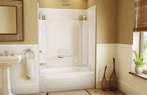 piece shower units  seat shelves  tub ideas