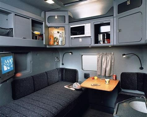 big rig cab interior  sleeper semi tractor truck