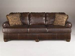 Ashley signature design living room sofa 4200038 winner for Ashley leather sofa