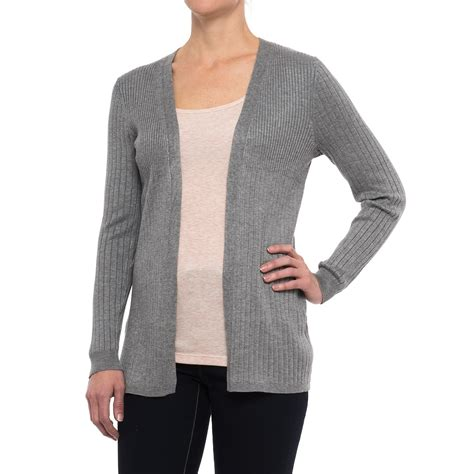 cable cardigan sweater cable open front ribbed cardigan sweater for