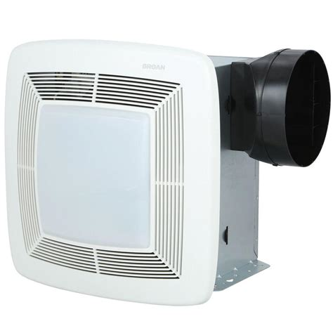 bathroom exhaust fan with light home depot broan qtx series very quiet 80 cfm ceiling exhaust bath
