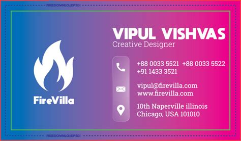 creative business card templates psd freedownloadpsdcom