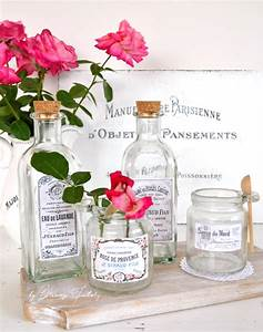 diy vintage french apothecary jars and bottles With diy waterproof labels for jars