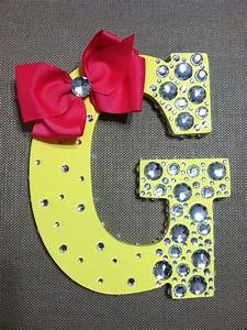 cute bedazzled letters with wooden letters from a craft With bedazzled letters