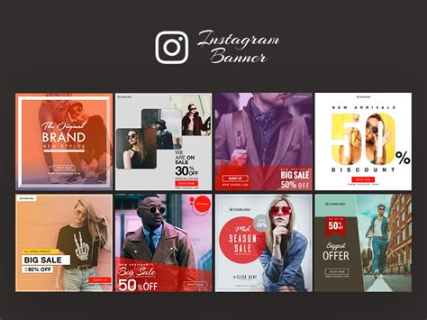instagram ad banner templates free psd freebie supply