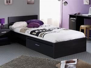 Lit Double Avec Tiroir : lit tiroir 90x190 les prix avec le guide achat kibodio ~ Teatrodelosmanantiales.com Idées de Décoration