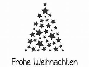 Wandtattoo Sterne Tannenbaum Frohe Weihnachten