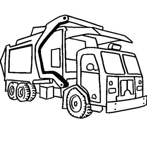 compressing garbage truck  dump truck coloring page kids play color