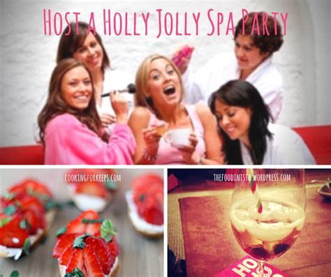host a holly jolly home spa party az spa girls