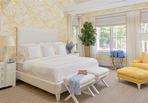 4091 yellow and white bedroom white and yellow bedroom with yellow chair and ottoman