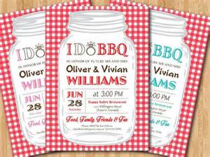 bridesmaid bags i do bbq wedding invitation gingham couples shower