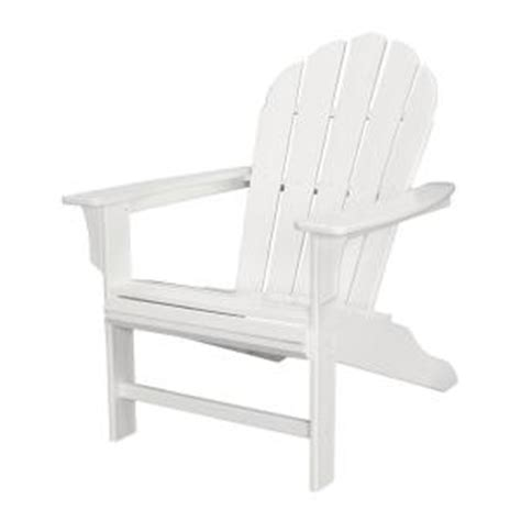 trex outdoor furniture hd classic white patio adirondack