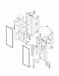 Refrigerator Door Parts Diagram  U0026 Parts List For Model Mfi2569vem2 Maytag