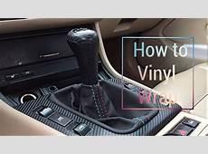 How to vinyl wrap BMW e46 interior trim YouTube