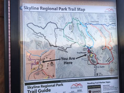 trail map located  parking lot yelp