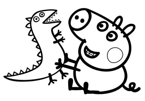 Peppa Pig George Con Il Suo Dinosauro