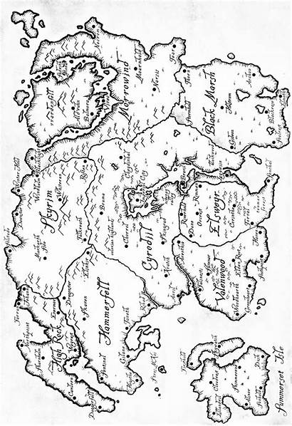 Map Printable Elder Scrolls Maps Games Skyrim