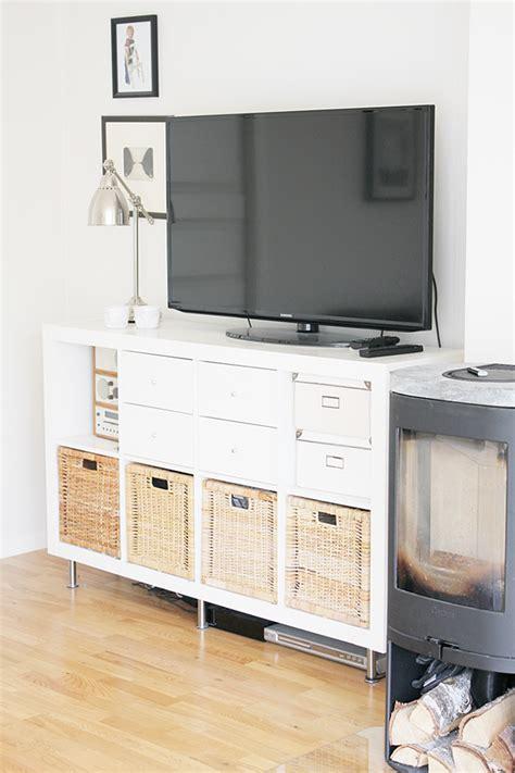 kallax tv regal kallax turned into a tv stand kallax als tv regal diy kallax home d 233 cor ikea