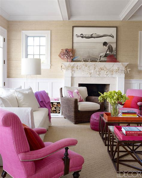 Brown Couch Living Room Color Schemes by Hamptons Ny Beach House Coastal Home Interior Design