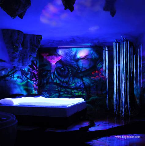 when the lights go out my glowing murals turn these rooms
