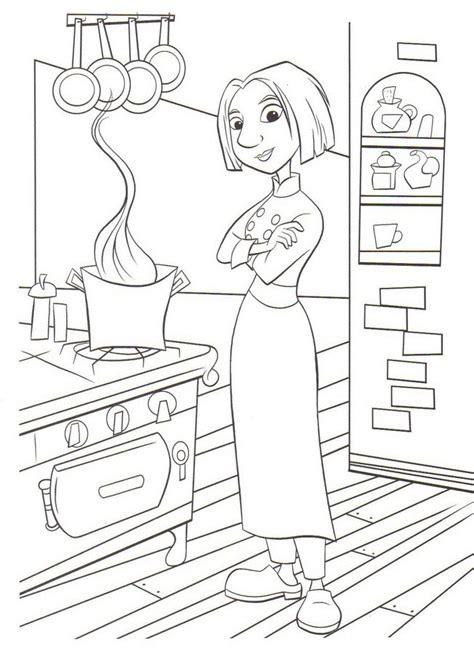 dessins de cuisine dessins de ratatouille à colorier