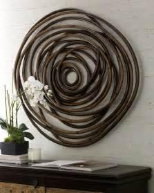 wooden swirl wall decor