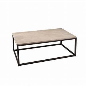 table basse industrielle rectangulaire metal et bois 115cm With meuble 80x80x40 1 table basse en bois meuble salon pier import