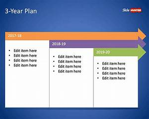 free 3 year plan template for powerpoint free powerpoint With it strategic plan template 3 year