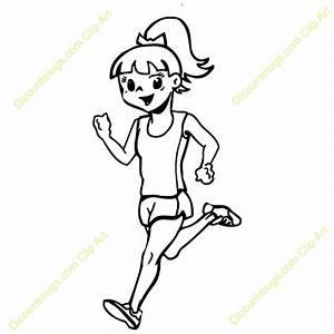 Clip Art Woman Running Clipart