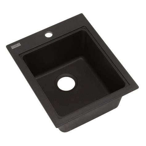 franke dual mount granite 17 1 single basin prep sink