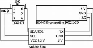 Wiring Schematic  The Layout Of The Photodiode  Microcontroller And Lcd