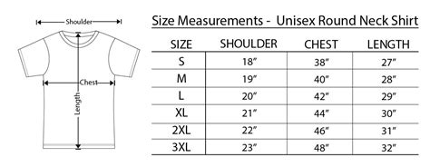 13 Awesome round neck t shirt size chart images | Shirt ...