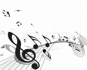 Vector musical notes staff background for design use ...