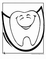 Tooth Coloring Pages Dental Teeth Happy Face Smiley Cliparts Pattern Dentist Health Printable Clipart Patient Faces Template Printables Preschool Dentes sketch template