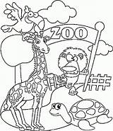 Coloring Zoo Pages Printable Preschool Animals Animal Colouring Ausmalbilder Kindergarten Coloring4free Sheets Tiere Im Results Related Funny sketch template