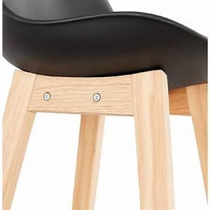 Tabouret Mi Hauteur : tabouret de bar chaise de bar mi hauteur design scandinave dylan mini noir ~ Teatrodelosmanantiales.com Idées de Décoration