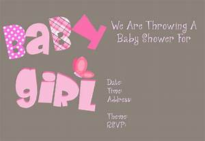 Free Printable Girl Baby Shower Invitations | THERUNTIME.COM