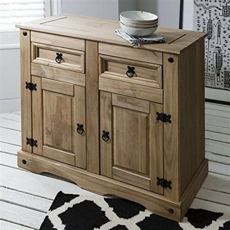 Small Wood Sideboard by Small Sideboard Cabinet Solid Wood Rustic Cupboard 2