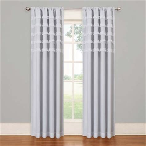 buy white ruffle curtains from bed bath beyond