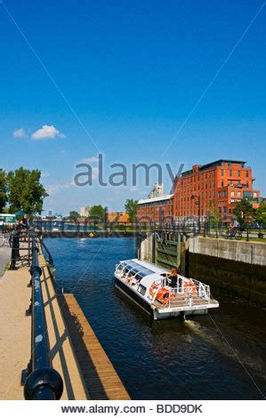 Pedal Boat Lachine Canal by Canada Montreal Historic Waterfront Port